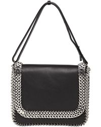 Paco Rabanne Leather and Metal Shoulder Bag - Lyst