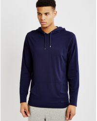 Calvin Klein   Modal Lounge Hoodie Blue   Lyst