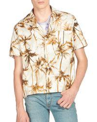 Saint Laurent | Hawaiian-print Cotton & Linen Shirt | Lyst