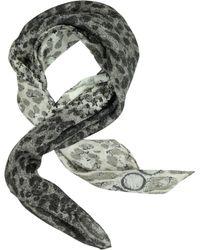 Jimmy Choo Stars and Animal Print Silk Square Scarf - Lyst