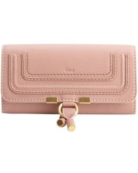 Chloé Anemone Pink Calfskin Marcie Continental Wallet - Lyst