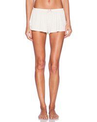 Eberjey Open Hearted Shorts - Lyst