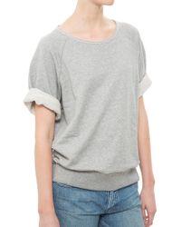 Rag & Bone/JEAN Joanna S/S Sweatshirt gray - Lyst