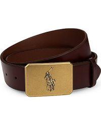 Pink Pony - Logo-detail Leather Belt - Lyst