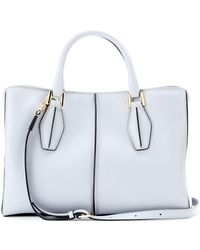 Tod's Dcube Small Leather Tote - Lyst