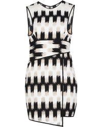 BCBGMAXAZRIA Alivia Wrap Waist Asymmetrical Hem Dress - Lyst
