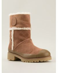Tory Burch Shearling Boots - Lyst