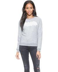 Zoe Karssen Bat Pullover Sweatshirt - Heather Grey - Lyst