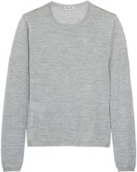 Miu Miu Cashmere And Silk-Blend Sweater - Lyst