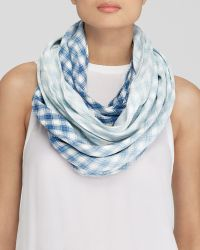 DKNY - Ombré Check Infinity Scarf - Bloomingdale'S Exclusive - Lyst