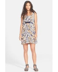 Free People 'Tropical Twofer' Print Dress - Lyst