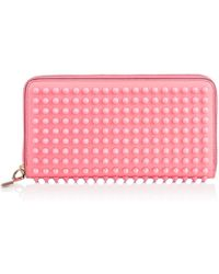Christian Louboutin Panettone Spikes Wallet pink - Lyst