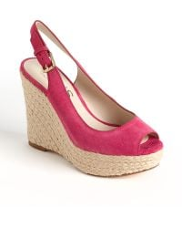 Kors by Michael Kors Keelyn Suede Platform Wedge Sandals - Lyst