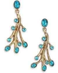 Oscar de la Renta | Seaweed Crystal Drop Earrings | Lyst
