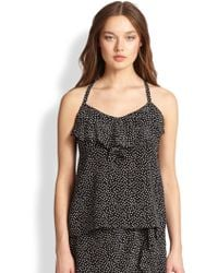 Nanette Lepore Silk Too Hot Top - Lyst