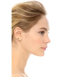Sehti Na - Diamond & Onyx Bar Earring - Onyx/clear/gold - Lyst