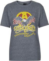 Topshop Aerosmith Tee by and Finally  Grey Marl - Lyst