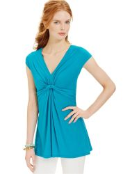 Miraclesuit - Shaping Cap-sleeve Draped Top - Lyst