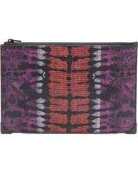 Alexander Wang Embossed Prisma Flat Clutch - Bubba And Flame - Lyst