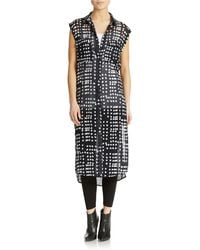 Free People Printed Button Down Dress - Lyst