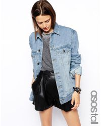 Asos Tall Exclusive Denim Jacket in Oversized Boyfriend Fit - Lyst