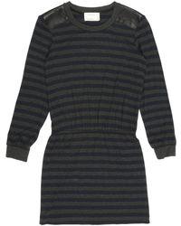Nicole Miller Elaine Striped Jersey Dress - Lyst