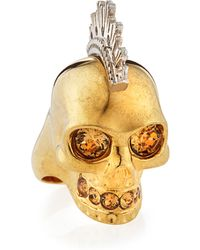Alexander McQueen Two-tone Punk Skull Ring - Lyst