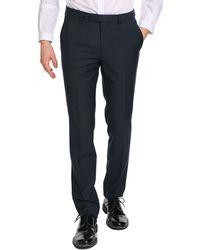 Hugo Heibo Navy Blue Slim Trousers - Lyst