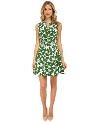 Kate Spade Garden Leaves Pique A-Line Dress - Lyst