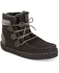 Laidbacklondon - 'annick' Genuine Shearling Boot - Lyst