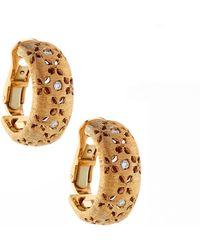 Roberto Coin - Granada 18k Rose Gold Diamond Half-hoop Earrings - Lyst