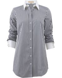 Michael Kors Striped French Cuff Shirt gray - Lyst