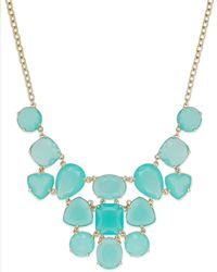 Kate Spade New York Gold-plated Blue Statement Necklace - Lyst