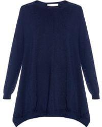Stella McCartney   Asymmetric Wool And Silk-blend Sweater   Lyst