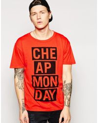 Cheap Monday Frames T-shirt - Lyst