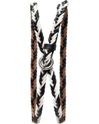 Banana Republic Woven Leather Skinny Belt - Lyst