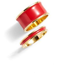 Tuleste - Stackable Enamel Rings - Lyst