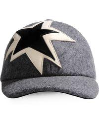 Neil Barrett Hat gray - Lyst