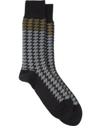 Paul Smith Houndstooth Socks - Lyst
