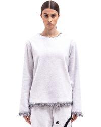 Haal - Gisele Terry Crew Neck Sweatshirt - Lyst