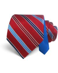 Happy Ties - Textured Stripe Classic Tie - Lyst