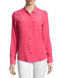 Equipment Brett Long-Sleeve Blouse - Lyst