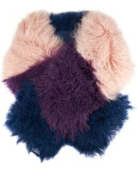 House of Holland - Mongolian Striped Shearling Scarf - Lyst