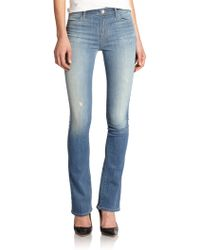 J Brand Remy High-Rise Distressed Bootcut Jeans blue - Lyst