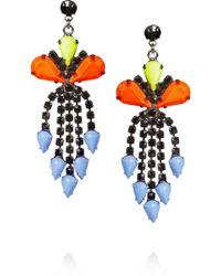 Tom Binns - Electro Clash Nova Painted Swarovski Crystal Earrings - Lyst