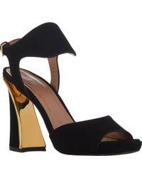 Marni Metal-Trim Ankle-Strap Platform Sandals - Lyst