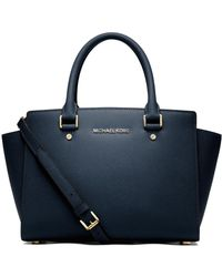 MICHAEL Michael Kors | Selma Medium Saffiano Leather Satchel | Lyst