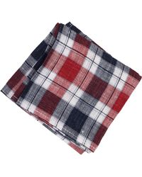 Brunello Cucinelli Linen Plaid Pocket Square - Lyst