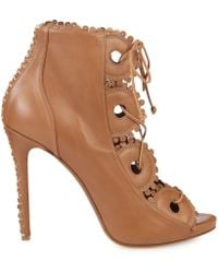 Tabitha Simmons Dakota Lace-Up Leather Boots - Lyst