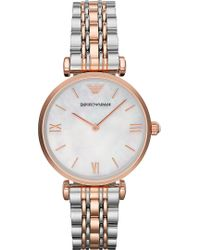 Emporio Armani Two Toned Stainless Steel Watch Mop - Lyst